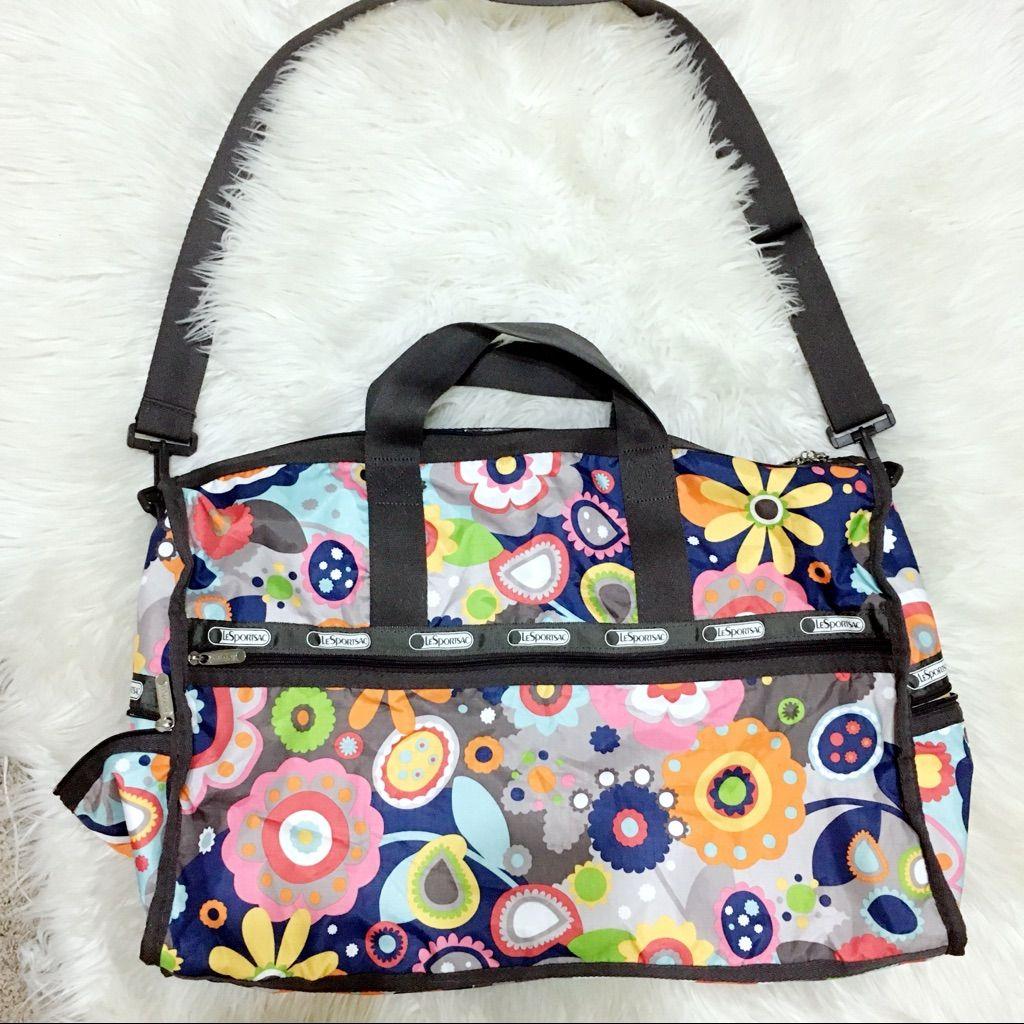 Lesportsac Floral Weekender Duffle Bag