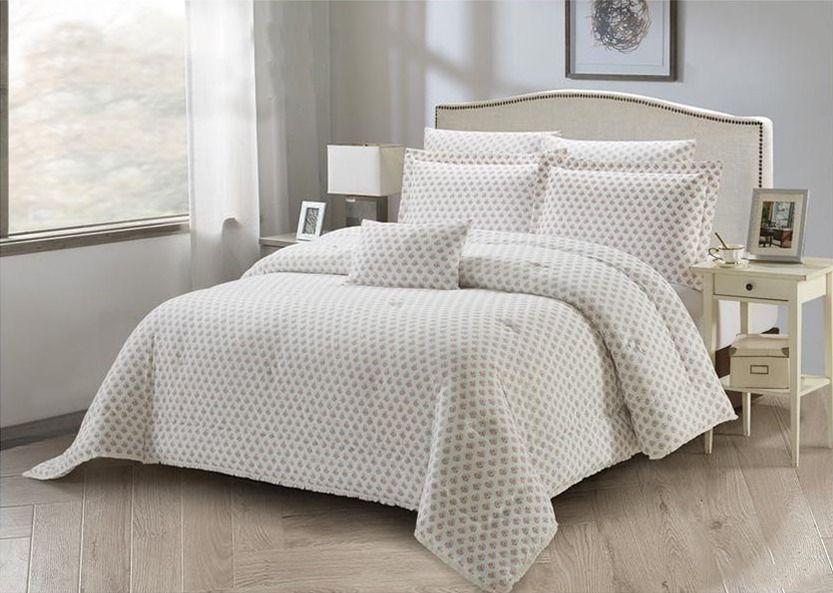 طقم لحاف Hera مشجر مزدوج 8 قطع Home Decor Furniture Bed