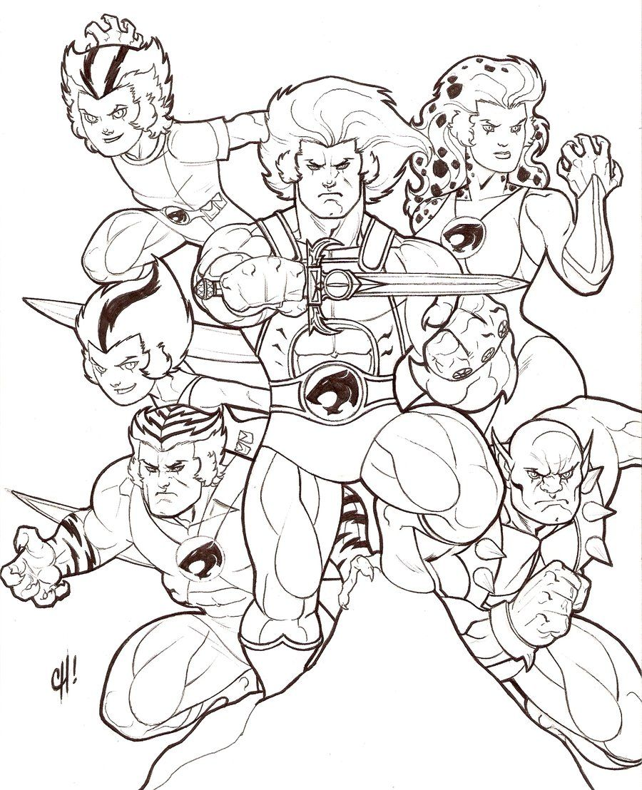 Indie rock coloring book pages - Thunder Cats Thundercatsadult Coloringcoloring Pagessuperherocartoonsdesign Thunder Cats The Indie Rock Coloring Book