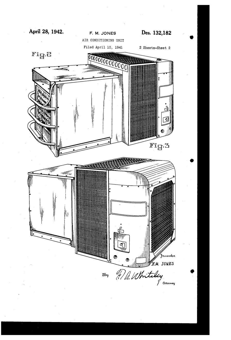 ...F.M. Jones patents a/c unit July 12, 1949 Jones, F. M