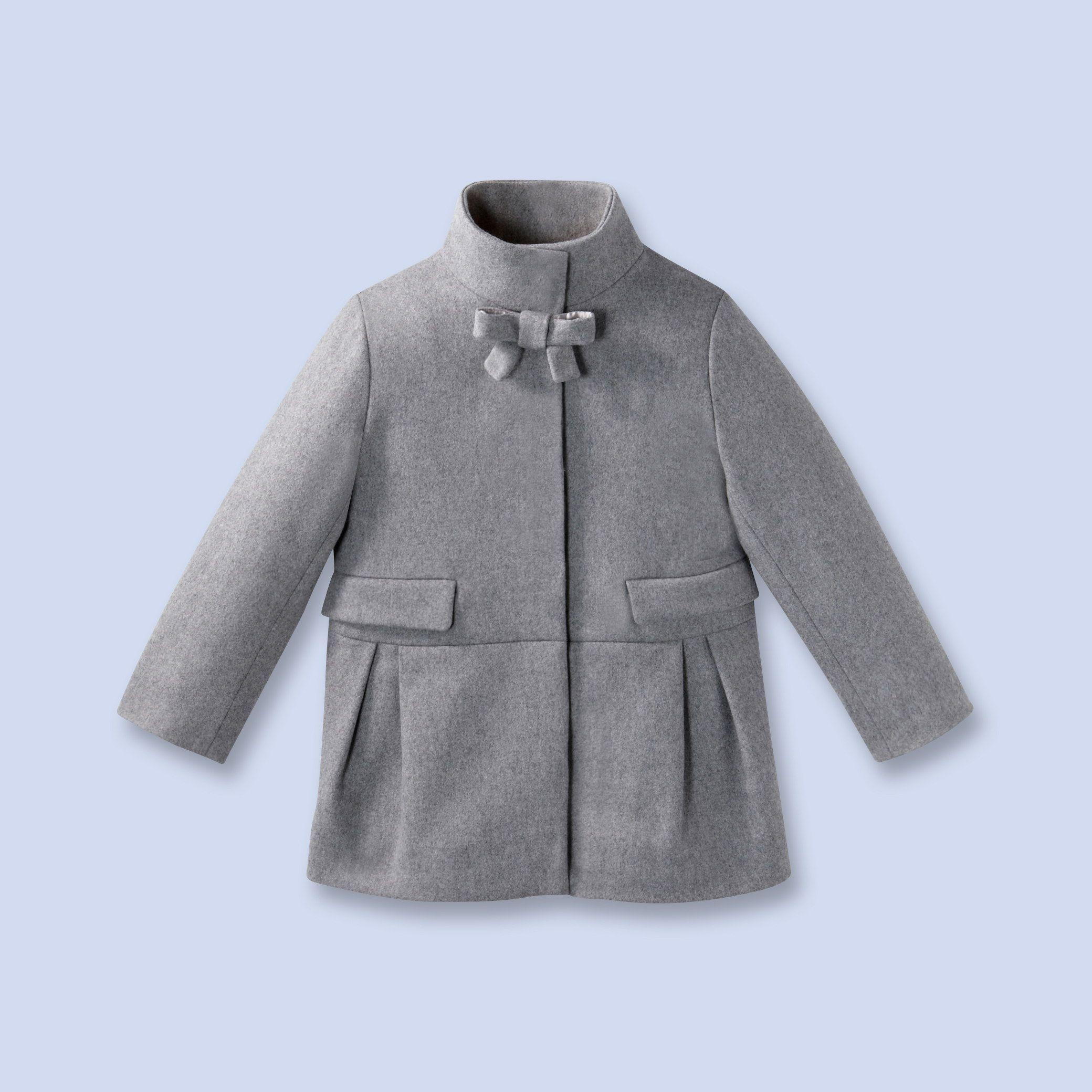 5e97f15a54cf0 Jacadi Manteau En Drap De Laine Pour Enfant Fille Mode