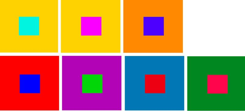 COLOR CONTRAST- The manners in which colors may contrast are by value (  light/dark), hue, temperature (cool/warm), complementarity, and saturation  ...