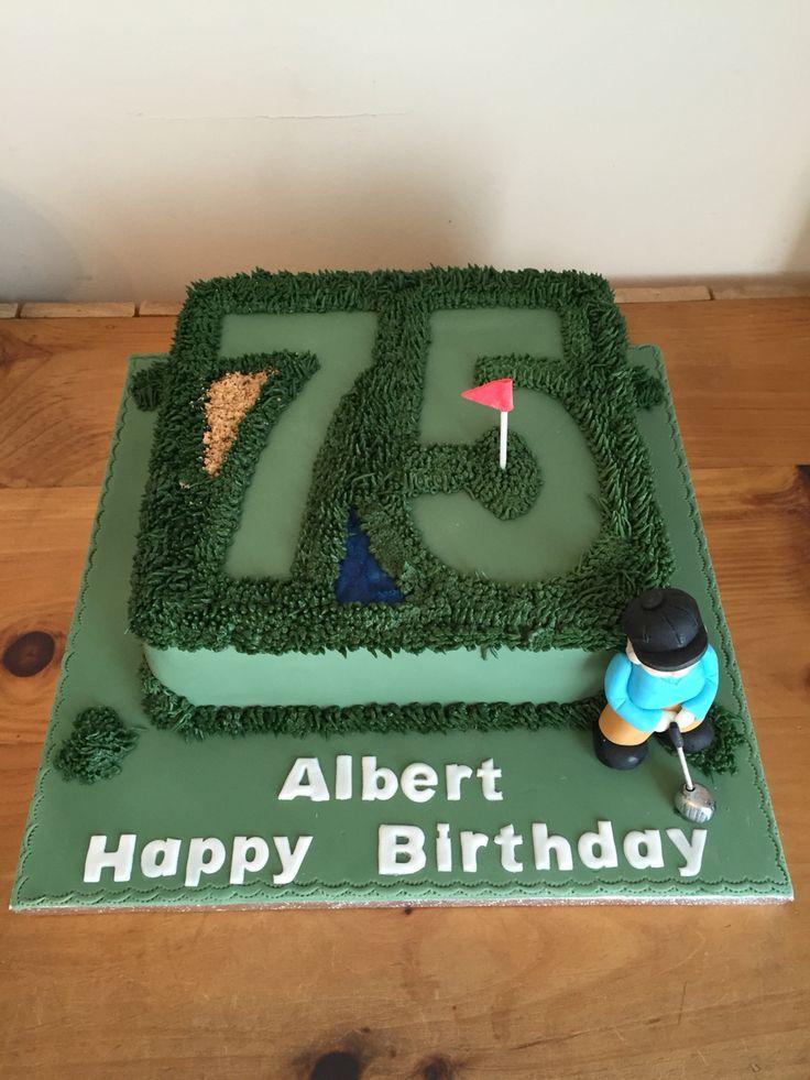 Golf Cake 75th Birthday Cake Mans Cake 75th Birthday Cakes