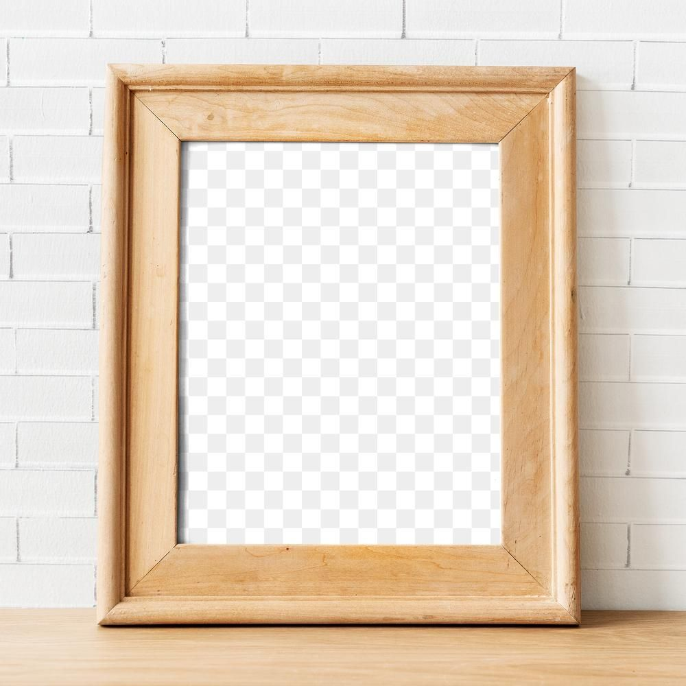 Download Premium Png Of Brown Wooden Frame Png Mockup By A Wall 2777116 Frame Wooden Frames Wooden