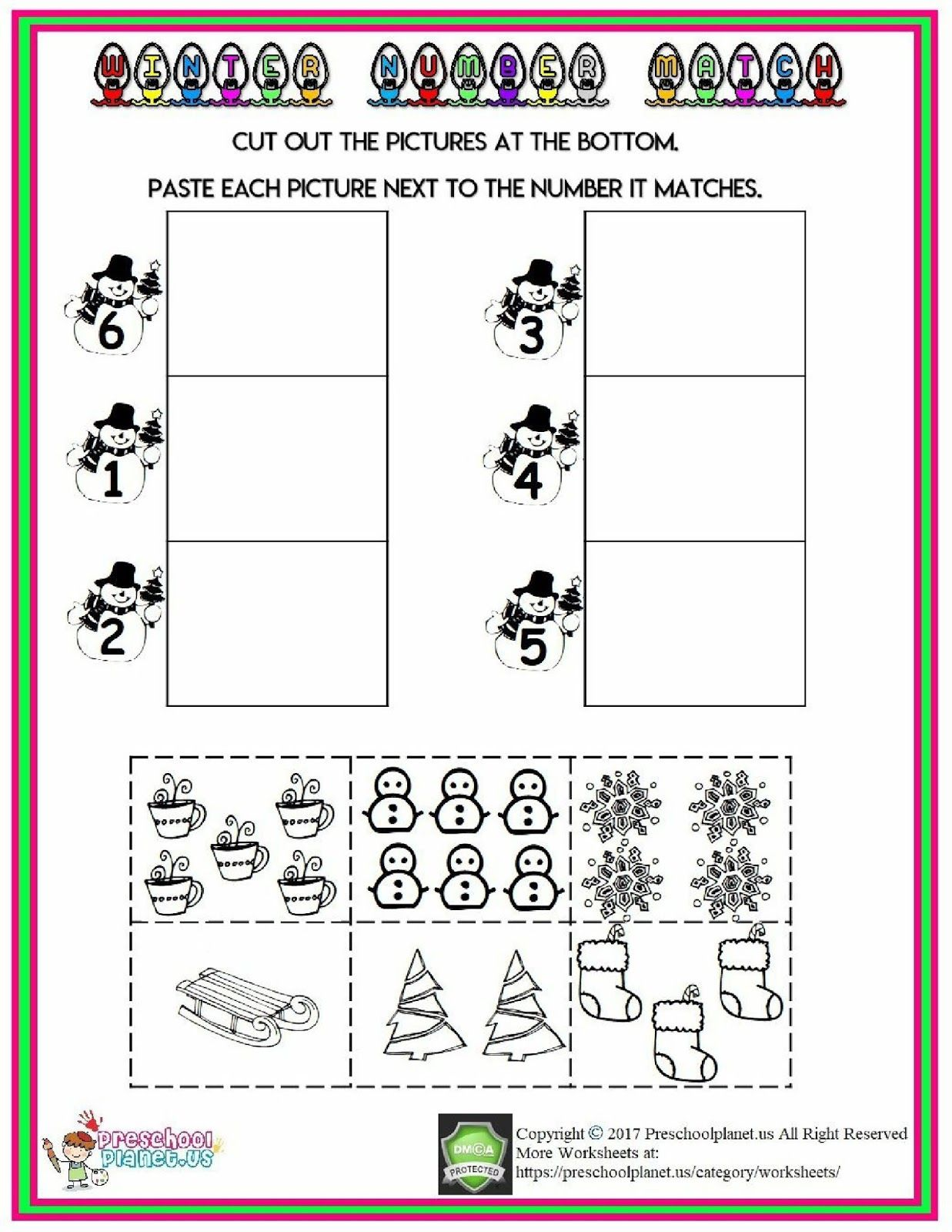 Winter Count Number Worksheet Coloringsheet
