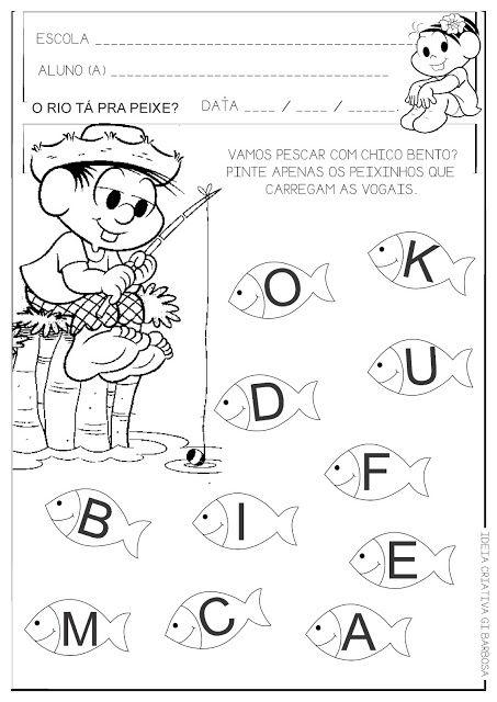 Atividade Educa 231 227 O Infantil Vogais Chico Bento Festa