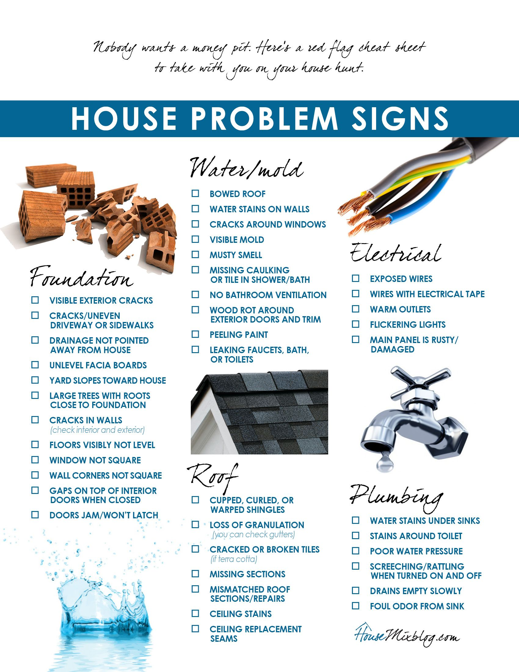 Moving Part  Problems To Look For When Buying A House Checklist