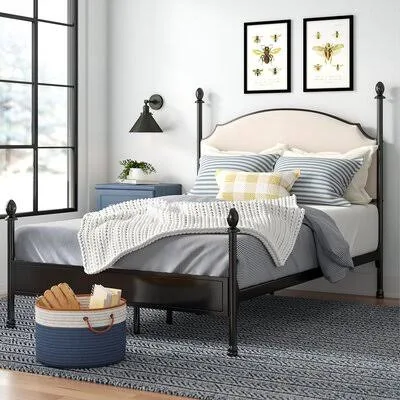 Wrought Iron Headboard Google Search Four Poster Bed Upholstered Panel Bed Upholstered Platform Bed