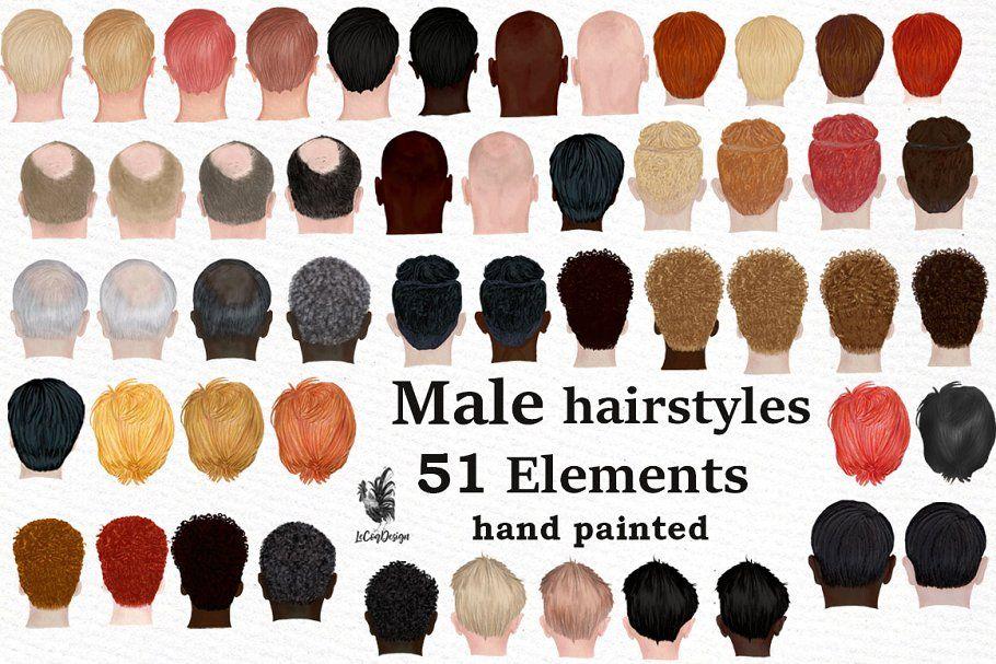 Male Hairstyles Bald Man Head Mens Hairstyles Hair Clipart Hair Styles