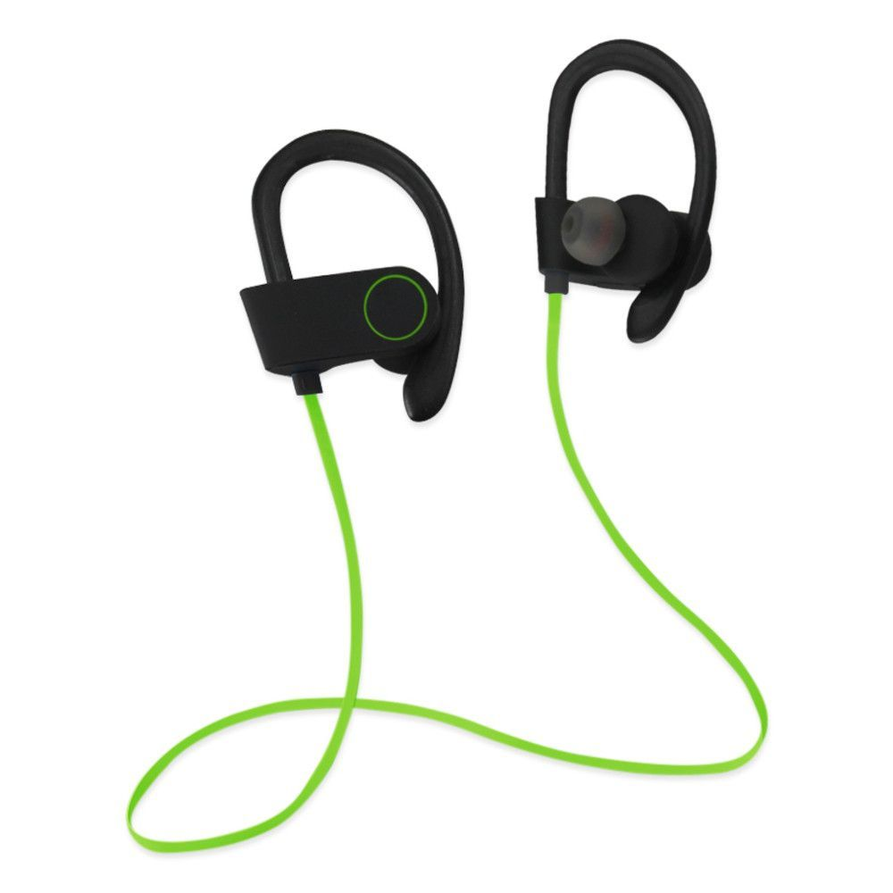 Reiko UNIVERSAL HD WIRELESS SPORT HEADPHONE WITH IN-EAR EARBUDS AND SWEATPROOF GREEN