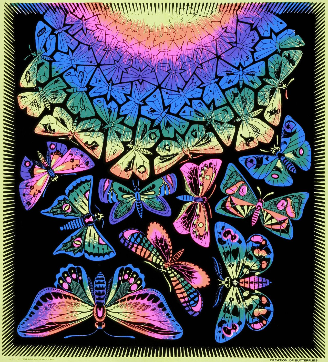 Blacklight Poster By M. C. Escher