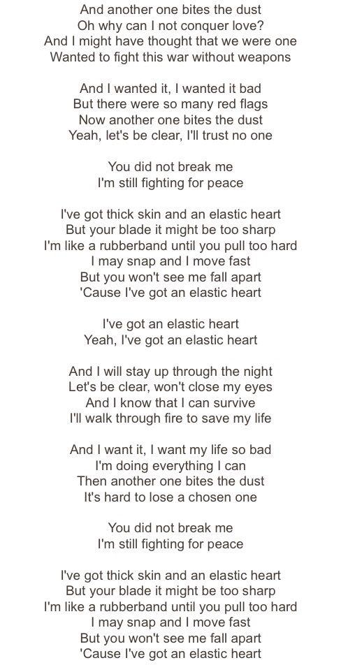 Sia- Elastic Heart