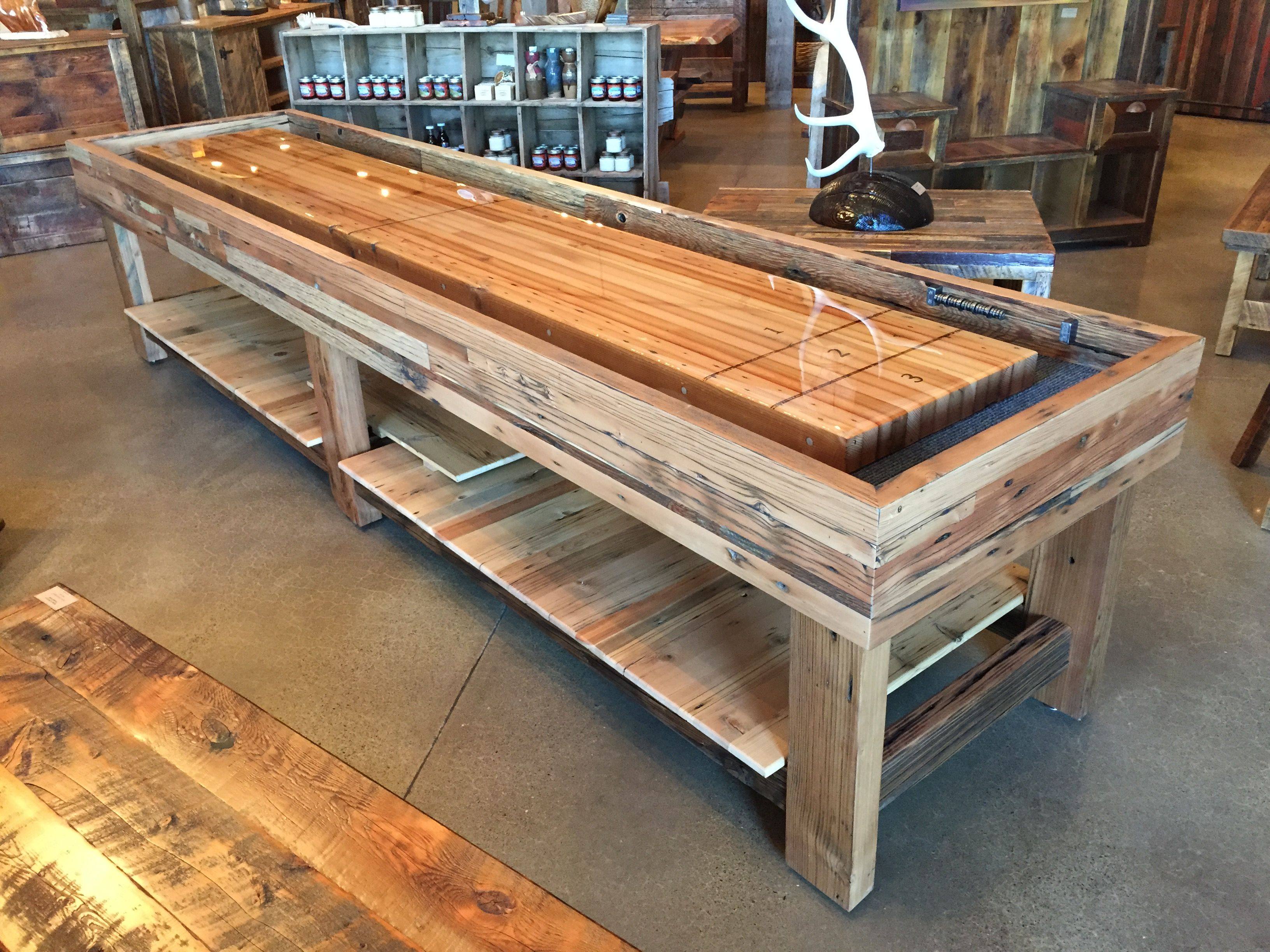 "The OK Corral"" custom shuffle board by Old Barn Woods Featured at"
