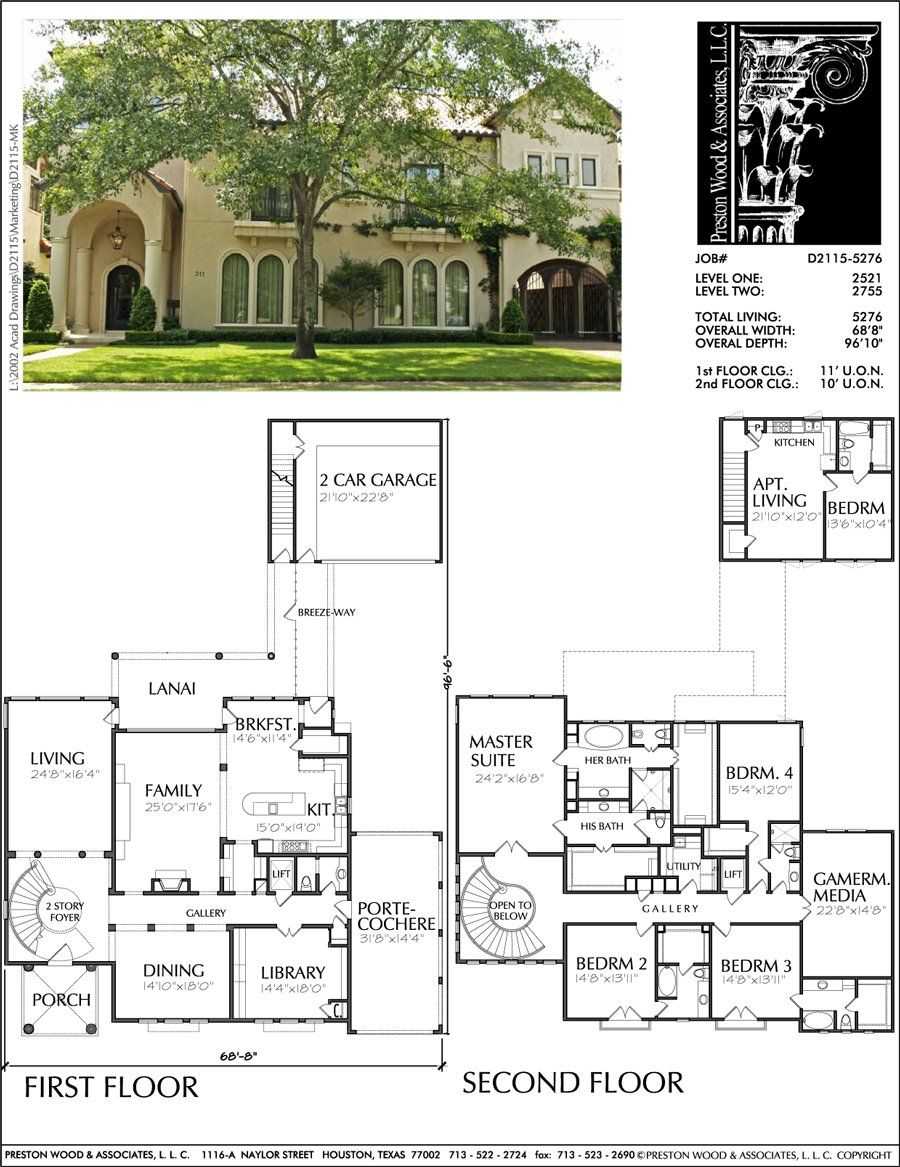 Two Story Home Design Ad2115 Dream House Plans Two Story House Plans House Layouts