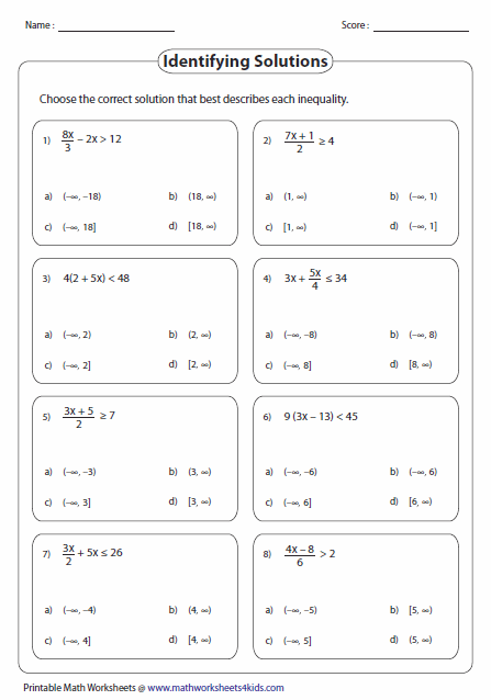 Multi Step Equations Solving Inequalities Inequality