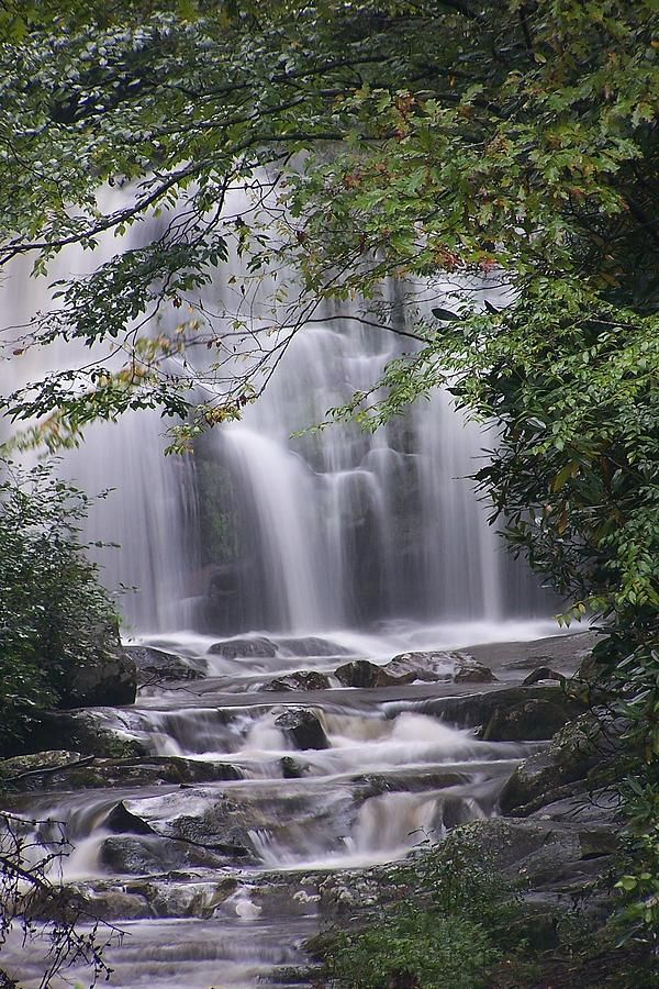 This is Meigs Falls, located in the Great Smoky Mountains. Many drive right by this waterfall and dont know it's there unless they happen to look over. Only time to capture this waterfall this full is after a good rain.