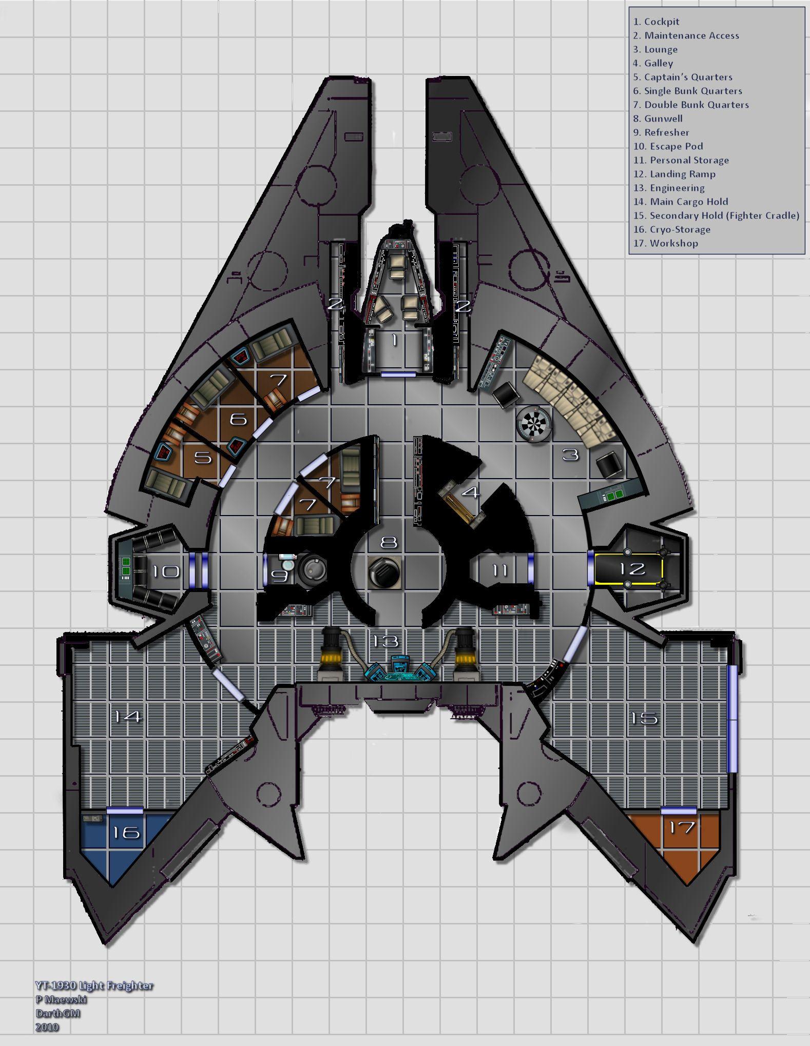 Star Wars Ship Floor Plans Part - 35: Post Your Favorite Star Wars Ship Designs. Description From Pinterest.com.  I Searched