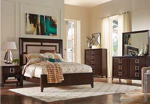 Sofia Vergara Santa Clarita Dark Cherry 5 Pc Queen Bedroom At Rooms To Go.