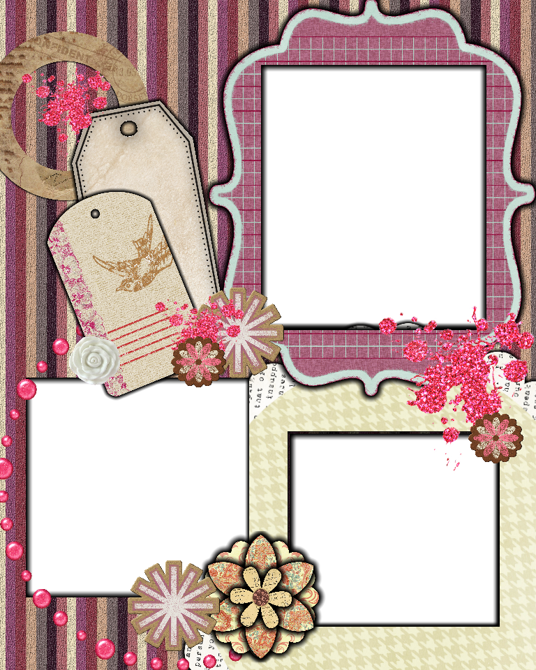 Scrapbook layout templates sweetly scrapped free scrapbook layout template scrapbook - Scrapbooking idees pages ...