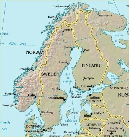 Norway Sweden Finland Scandinavia Hammerfest Vikings