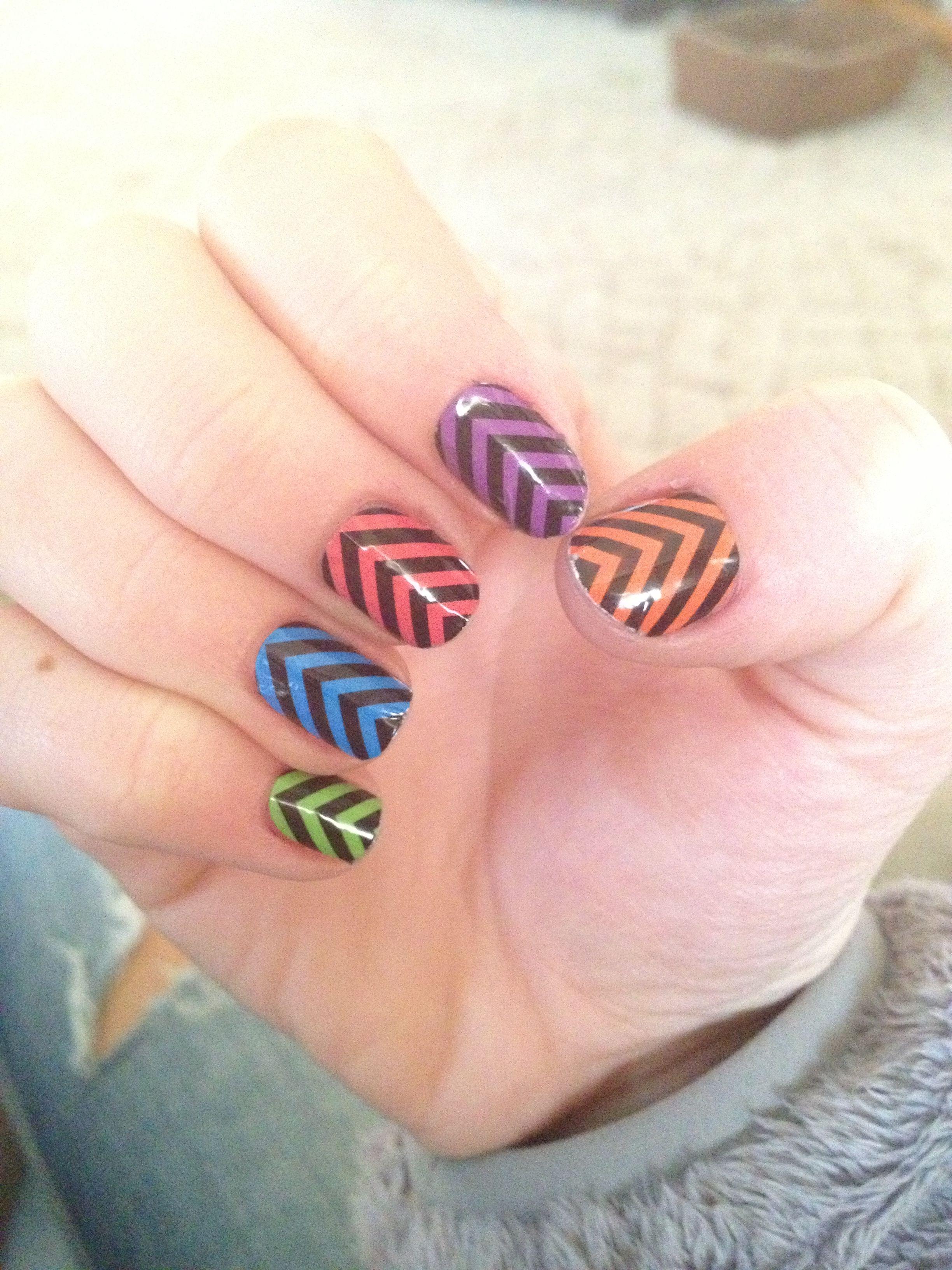 Chevron nails | Nails | Pinterest | Chevron nail art, Fun nails and ...