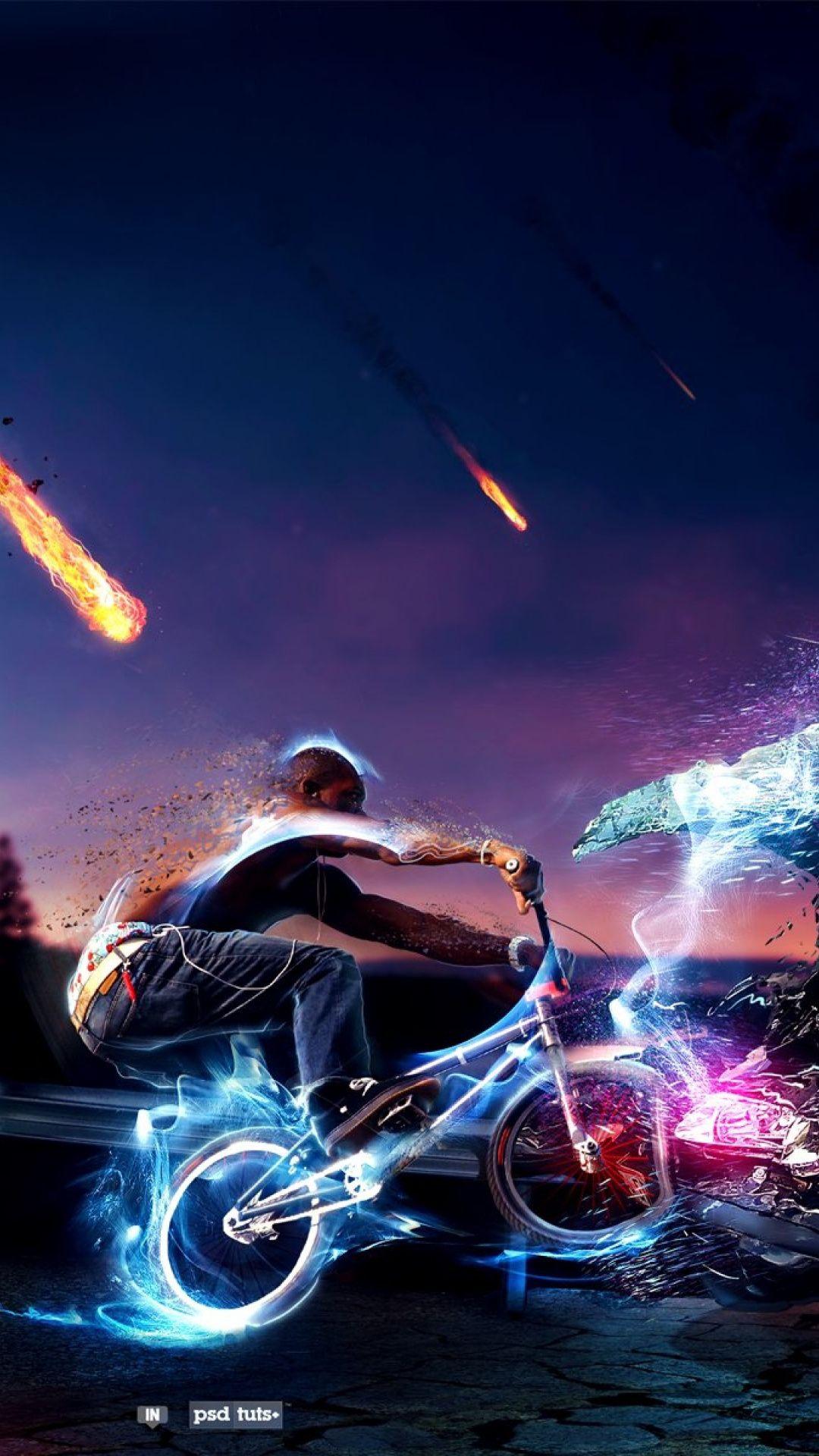 Wallpapers Bmx Bike Freestyle Bmx Light Motorcycle Sky