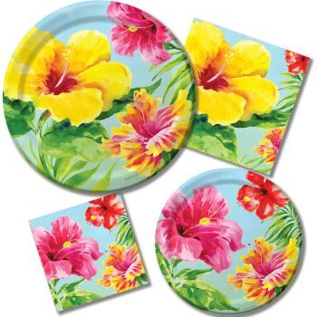 Heavenly Hibiscus - Party at Lewis Elegant Party Supplies Plastic Dinnerware Paper Plates and  sc 1 th 225 & Heavenly Hibiscus - Party at Lewis Elegant Party Supplies Plastic ...
