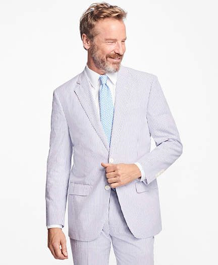 Brooks Brothers Madison Fit Stripe Seersucker Suit Designer
