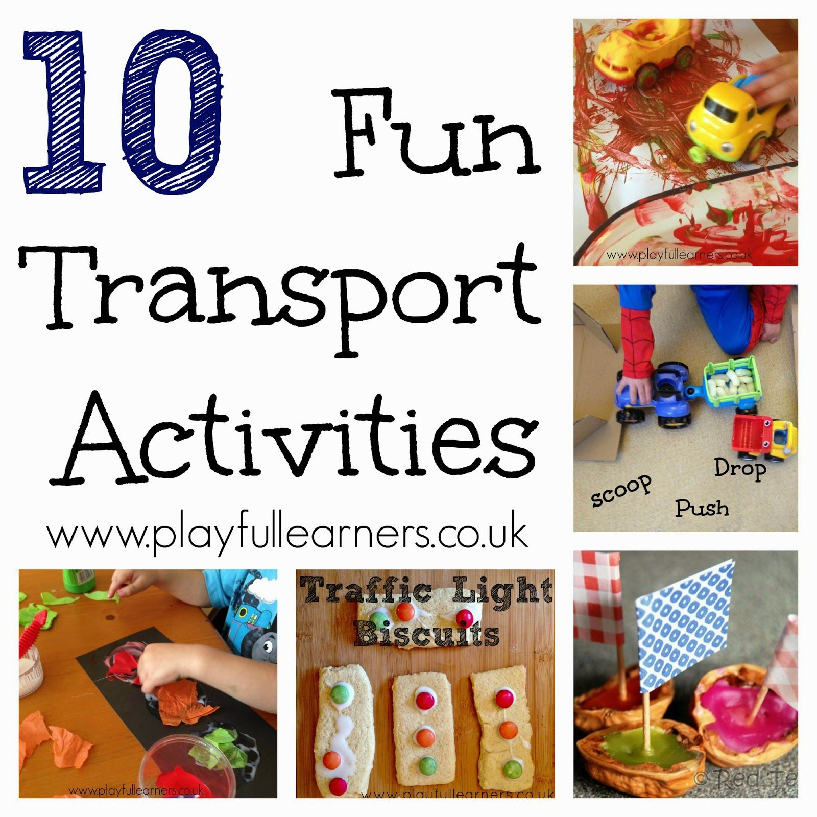 playful learners 10 fun transport activities vehicles crafts learning activities. Black Bedroom Furniture Sets. Home Design Ideas