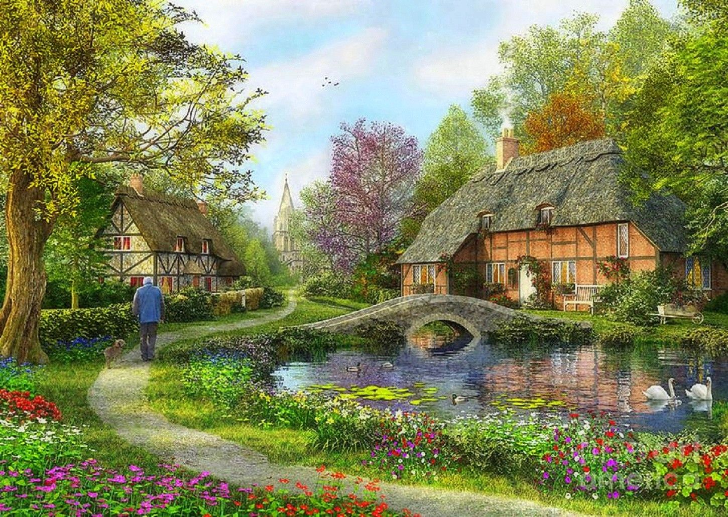Beautiful English Flower Garden houses english cottage flowers gardens lakes attractions dreams