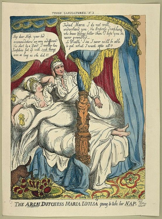 Anonimo, Napoleone e Maria Luisa a letto (disegno satirico dell'epoca)