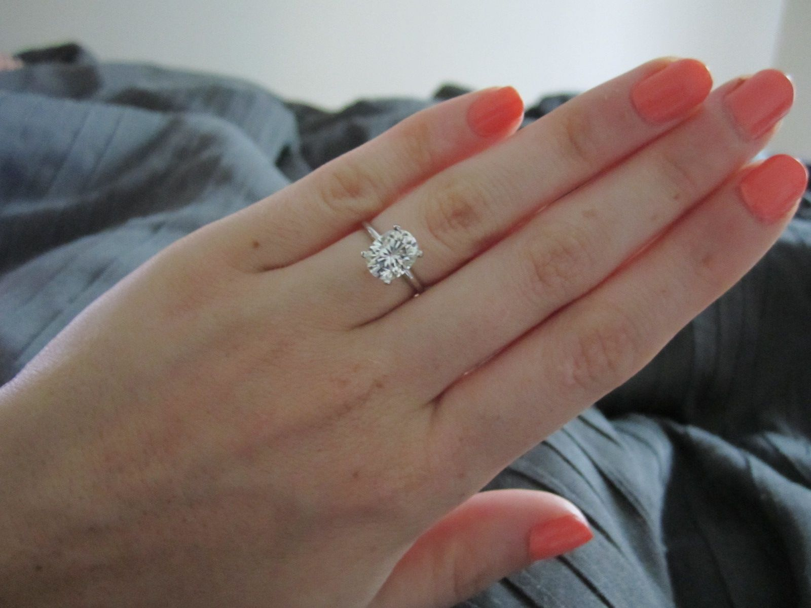 2 Carat Oval Forever Brillliant  15mm Band Beautiful! My Dream Solitaire  Stone Oval Solitaire Engagement Ringdiamond
