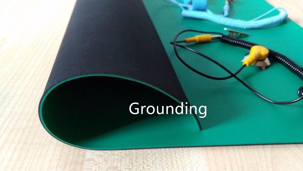 Grounding Anti Static Mat 400 300 2mm Antistatic Blanket Esd Mat For Repair Work Ground Wire Esd Wrist Top Quality Repair Work Grind Wrist