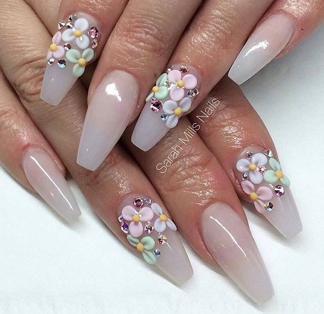 Pin By Cajaniece Davis On Nails Pinterest Flower Nail Designs