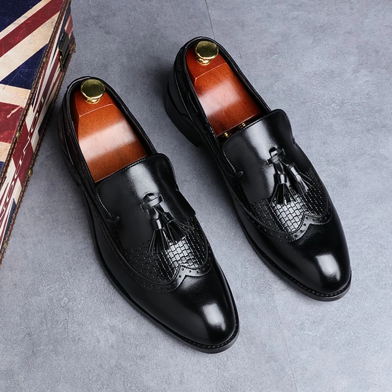 Italian Dress Shoes Loafers Casual