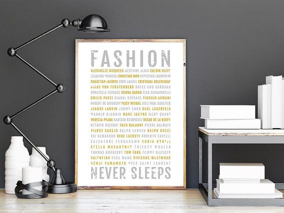 Fashion Print  Designers  Subway Poster Girlfriend by Sproutjam