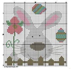 Easter Rabbit Cross-stitfh