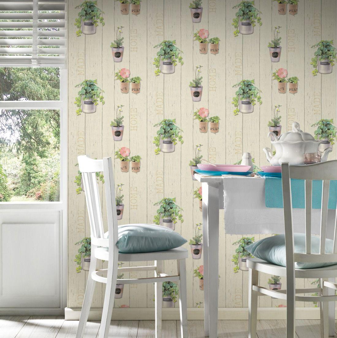 Frühlingstapeten für die Küche oder auch andere Räume mit der ...