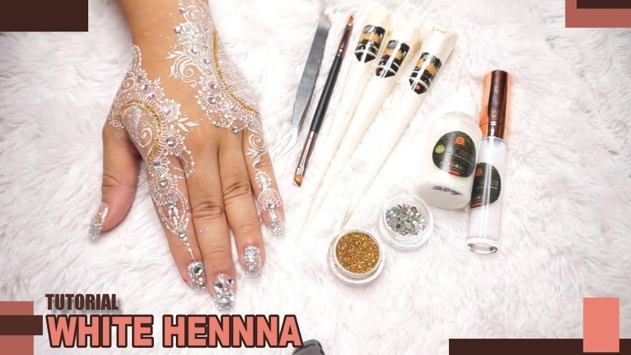Tutorial Memasang Glitter Dan Gems Pada White Henna White
