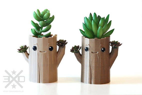 Cute Whimsical Creature Tree Planter For Mini Succulents Air Plants Or Cactus Tree Planters Air Plants Planters