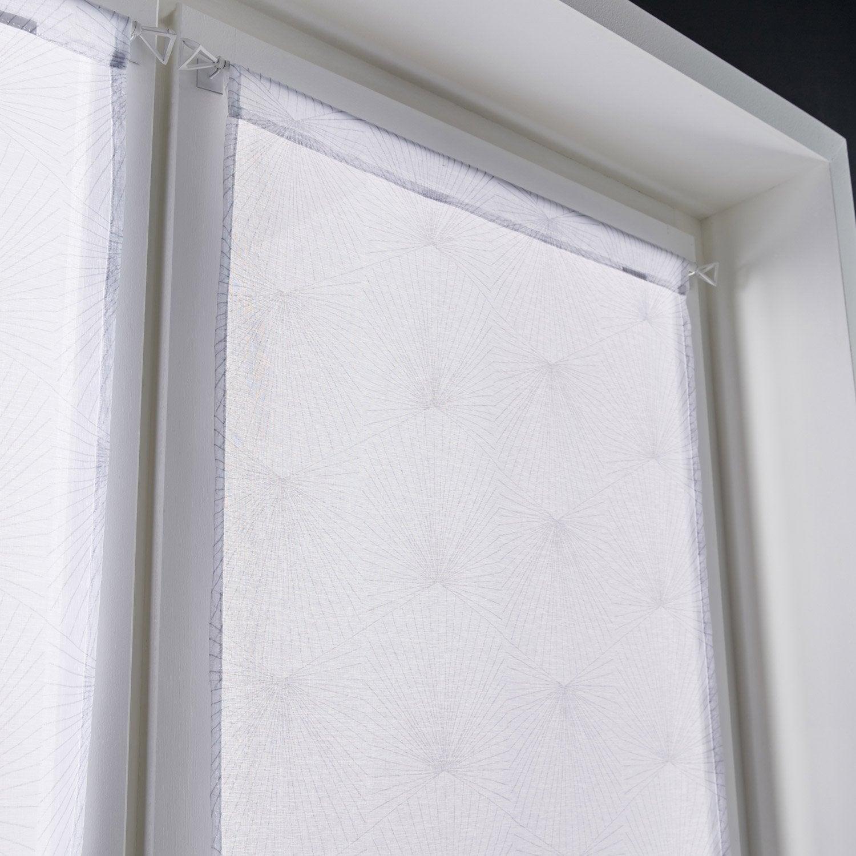 Planche Mélaminé Blanc Castorama paire de vitrages tamisant petite hauteur, kita, blanc, l.60