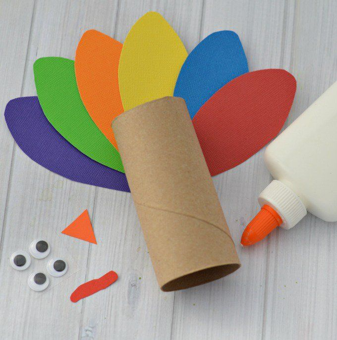 Paper Roll Turkey Craft For Kids Turkey Craft Simple Crafts And Reuse