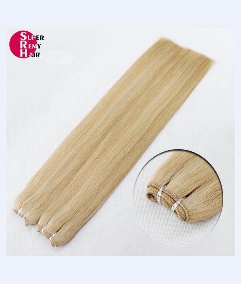 Hair weft 7A grade 100% human hair extensions 12-30 inch light color - Super Remy Hair #humanhairextensions