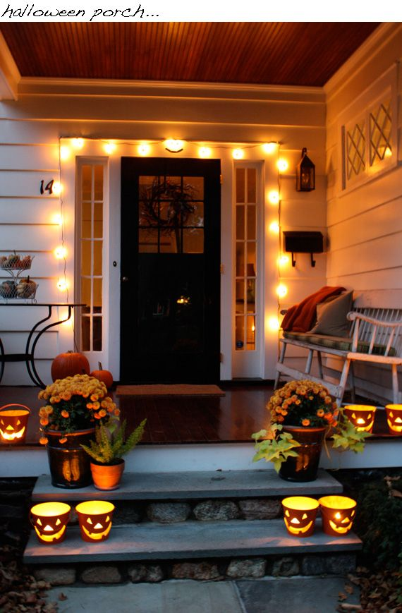 front porch For the home Pinterest Front porches, Porch and - decorate house for halloween