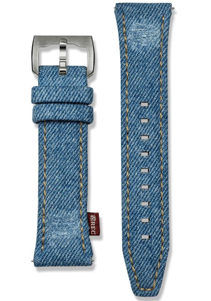 Rec P 51 24mm Denim Watch Strap Rec Denim 24 Blue Remen Chasy