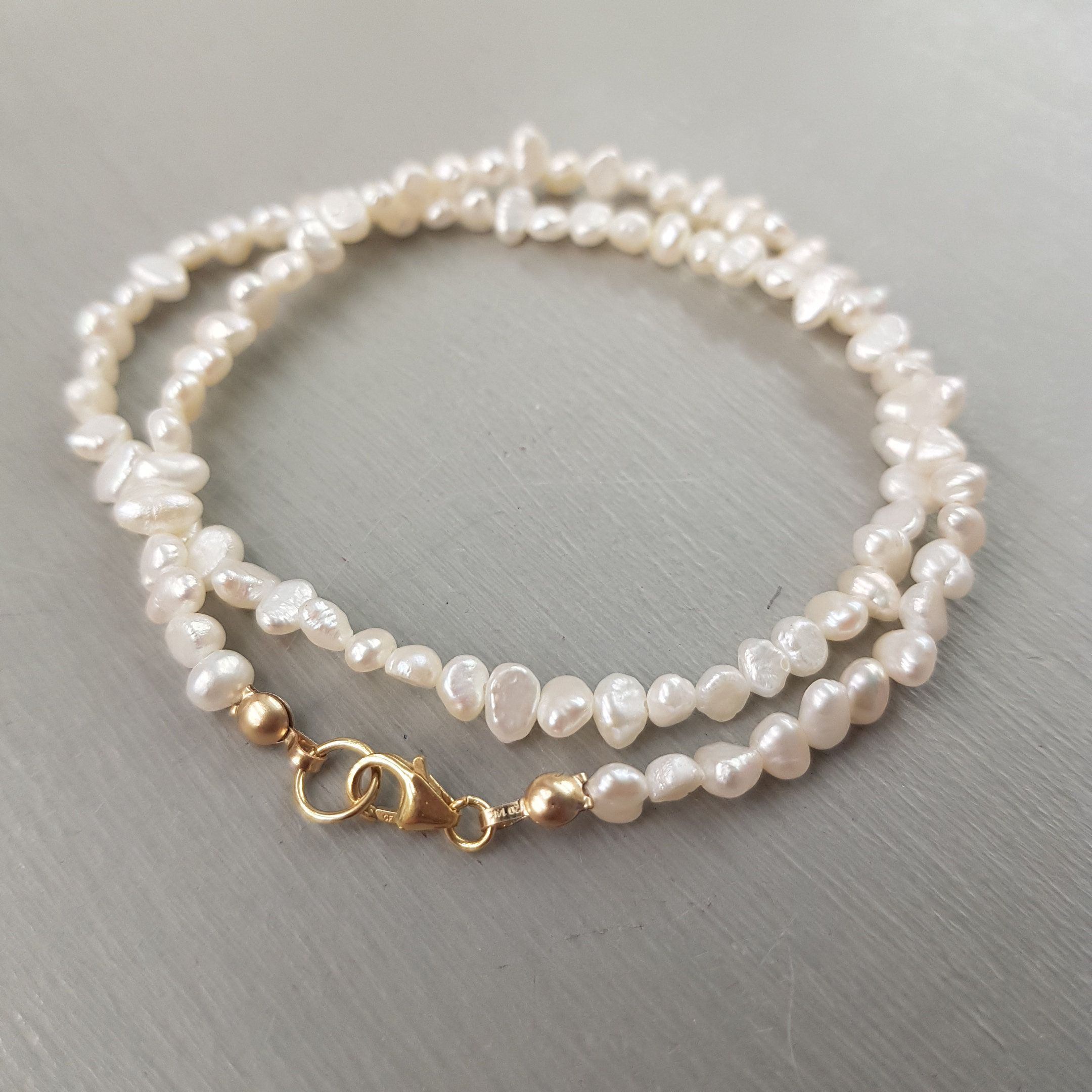 Bride Jewelry Freshwater Pearl Choker or Traditional Necklace