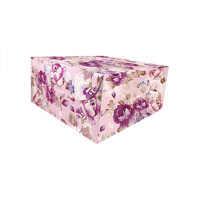 0ac6f31b08fc Buy Reliable Purple Floral Cake Box - 8 Pcs - This colourful printed cake  box is