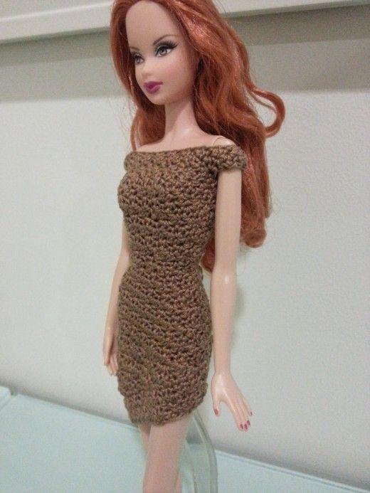 Barbie Asymmetrical Off-Shoulder Dress (Free Crochet Pattern ...