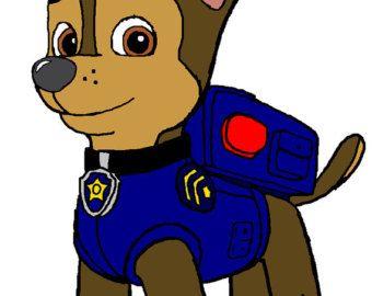 Police Dog Crochet Graph Chart Chase Paw Patrol Paw Patrol Paw