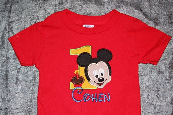 Personalized Mickey Mouse birthday shirt by KenaKreations on Etsy, $24.95